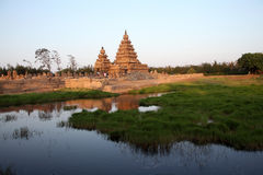 Sławny brzeg świątynny Mahabalipuram, tamil nadu, India zdjęcie stock
