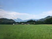 Sławny bujny zieleni krajobraz Austria Blisko granicy z Niemcy obraz stock