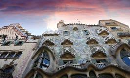 Sławny casa Battlo budynek projektujący Antonio Gaudi w Barcelona Fotografia Royalty Free
