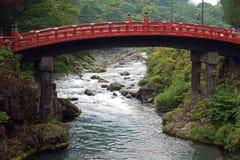 Sławny Czerwony Shinkyo most w Nikko, Japonia fotografia royalty free