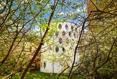 Sławny dom architekt Melnikov na Arbat ulicie - Moskwa Russ zdjęcia stock