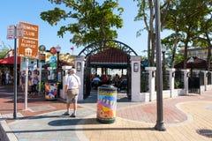 Sławny domino park przy 8th ulicą w Mały Hawańskim, Miami obraz stock