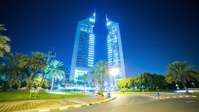 Sławny góruje 4k czasu upływ od Dubai miasta zbiory wideo