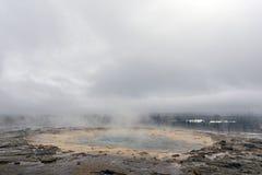 Sławny Geysir destrict blisko Reykjavik w Złotym okręgu, Iceland obraz stock