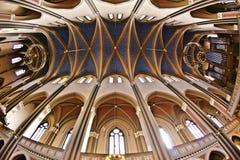 Sławny gothic Markt Kirche from inside obraz royalty free