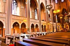 Sławny gothic Markt Kirche od zdjęcie royalty free