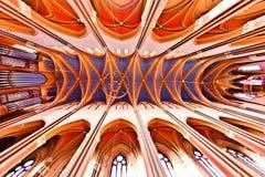 Sławny gothic Markt Kirche od zdjęcia royalty free