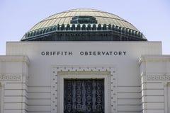Sławny Griffith obserwatorium w Los Angeles obraz royalty free