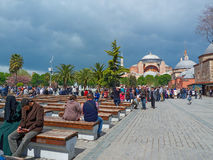 sławny hagia sophia Istanbul Dzień przed wielkanocy Obraz Stock