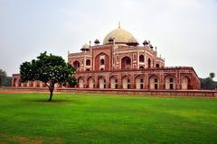 Sławny Humayun grobowiec w Delhi, India Ja jest grobowem Mughal cesarz Humayun zdjęcia royalty free