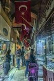 Sławny Istanbuł rynek - Uroczysty bazar Zdjęcie Stock