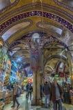 Sławny Istanbuł rynek - Uroczysty bazar Zdjęcia Royalty Free