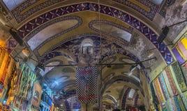 Sławny Istanbuł rynek - Uroczysty bazar Zdjęcie Royalty Free