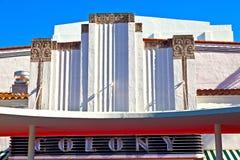 Sławny koloni art deco teatr im Fotografia Royalty Free