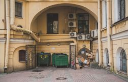 Sławny kwadratowy podwórze fotografia stock