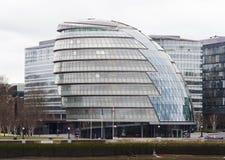 sławny Londyński urzędu miasta budynek widzieć od Londyn mosta, UK Obraz Royalty Free