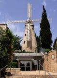 Sławny młyn Montefiore, Jerozolima, Izrael fotografia stock