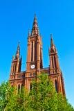 Sławny Markt Kirche w Wiesbaden, zdjęcia royalty free