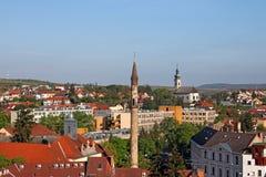Sławny minaretowy punkt zwrotny Eger Węgry Zdjęcia Stock