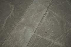Sławny Nazca Wykłada w Peru ty, tutaj widzieć postać pająk może fotografia stock