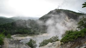 Sławny Noboribetsu Jigokudani - piekło dolina zdjęcie wideo