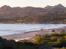 Sławny Plage d ` Ostriconi, Corsica zdjęcie royalty free