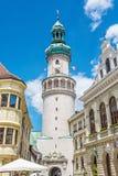 Sławny Pożarniczy wierza w Sopron, Węgry Fotografia Stock