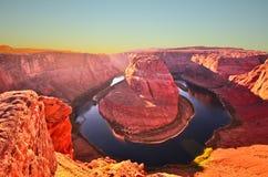 Sławny podkowa chył przy Utah, usa Obrazy Royalty Free
