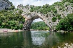 Sławny Pont d ` łuk w Francja zdjęcie royalty free