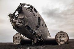Sławny prosty wrak na Iceland obrazy stock