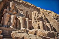 Sławny Ramses II UNESCO Abu Simbel obrazy royalty free
