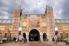 Sławny Rijksmuseum w Amsterdam, holandie zdjęcie royalty free