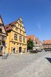 Sławny stary romantyczny średniowieczny miasteczko Dinkelsbuehl Zdjęcia Royalty Free