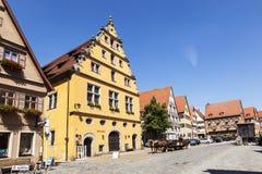 Sławny stary romantyczny średniowieczny miasteczko Dinkelsbuehl Zdjęcie Royalty Free