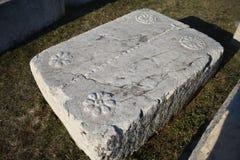 Sławny stecci w Radimlja średniowiecznym necropolis fotografia royalty free