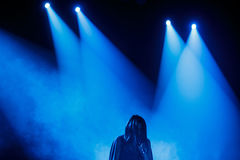 Sławny Ukraiński piosenkarz Jamala przedstawia jej nowego albumowego Podykh dać koncertowi (oddech) Fotografia Stock