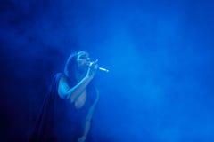 Sławny Ukraiński piosenkarz Jamala przedstawia jej nowego albumowego Podykh dać koncertowi (oddech) Zdjęcia Stock