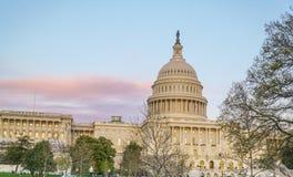 Sławny USA Capitol w washington dc KOLUMBIA, KWIECIEŃ - 7, 2017 - washington dc - Zdjęcie Stock