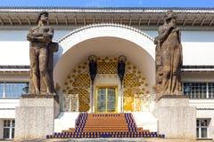 Sławny wejście Ludwig dom przy mathildenhoehe Obraz Stock