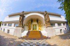 Sławny wejście Ludwig dom przy mathildenhoehe Zdjęcie Stock
