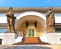 Sławny wejście Ludwig dom przy mathildenhoehe Obrazy Stock