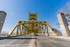 Sławny wierza most Sacramento zdjęcia royalty free