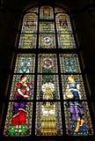 Sławny witrażu okno LawangSewu Zdjęcie Stock