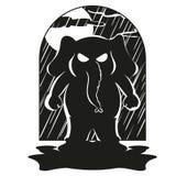 Słoń charakter Przychodził nagle Duża kolekcja odosobneni słonie Wektor, kreskówka royalty ilustracja