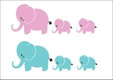 Słoń grupa Ilustracji