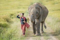 Słoń i mahout Zdjęcie Stock