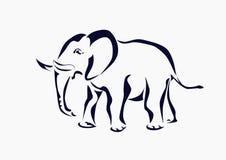 Słoń, ikona, tatuaż. Zdjęcia Stock