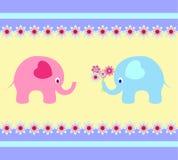 Słoń ilustracje, słoń karta Zdjęcie Royalty Free