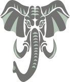 Słoń jako symbol, emblemat, logo ilustracja wektor