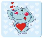 słoń miłość Obraz Stock